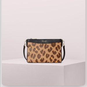 NWT Kate Spade margaux leopard medium crossbody